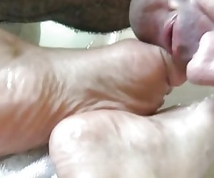Naked Heather Silk gets licked and gives head